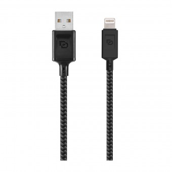 Cable USB a Lightning Dusted Negro